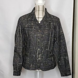 Chico's Size 2 Large 12/14 Metallic Blazer